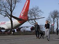 Boeing голландской авиакомпании KLM в Амстердаме