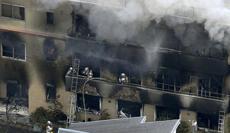18 июля 2019. Пожар в аниме-студии после поджога в Киото, Япония