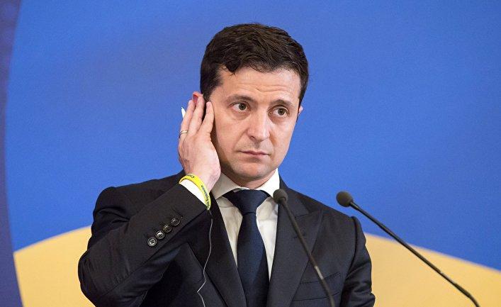Президент Украины Владимир Зеленский на 21-м саммите Украина - Европейский союз в Киеве