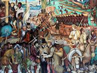 Диего Ривера «Эксплуатация Мексики конкистадорами»