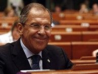 Сергей Лавров на дебатах в ПАСЕ