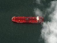 Захваченный британский нефтяной танкер в порту Бендер-Аббас, Иран
