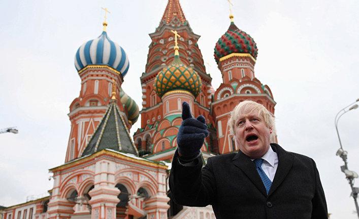 Борис Джонсон в Москве, 2017 год