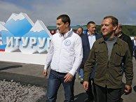 Рабочая поездка премьер-министра РФ Д.Медведева в ДФО. Остров Итуруп