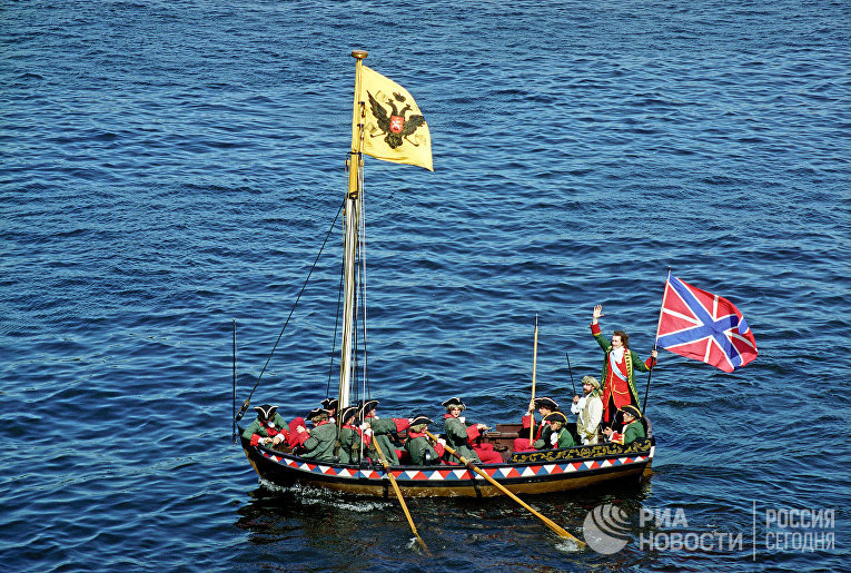 Праздник, посвященный 300-летию Российского флота