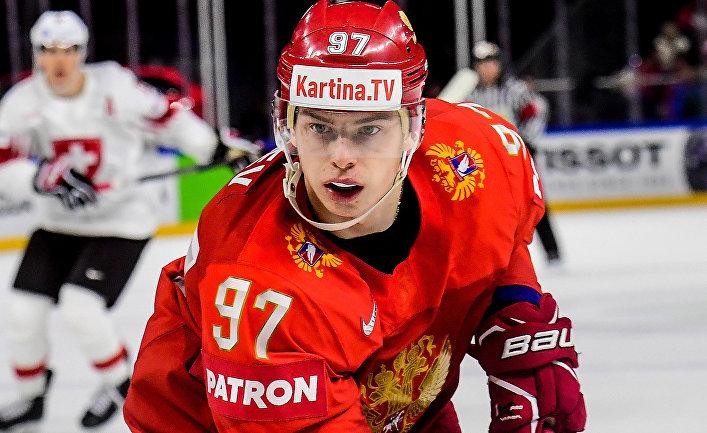 Игрок сборной России Никита Гусев в матче группового этапа чемпионата мира по хоккею