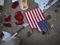 Мемориал погибшим в стрельбе в округе Орегон в Дейтоне