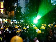 Протестующие против законопроекта об экстрадиции в Гонконге