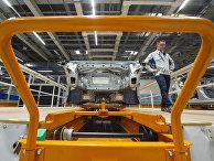Производство автомобилей Volkswagen на заводе в Цвиккау