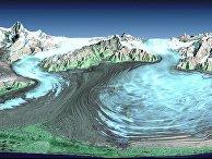 Ледник Маласпина на Аляске