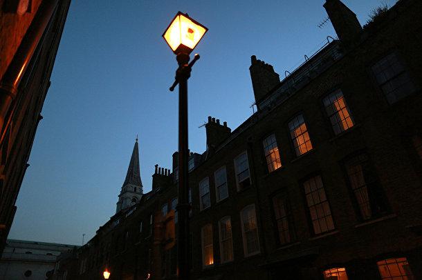 Улица рядом с рынком Спиталфилдс в Лондоне