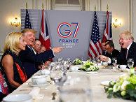 Президент США Дональд Трамп и премьер-министр Великобритании Борис Джонсон во время саммита G7