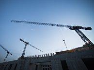 Строительство нового здания в Москве