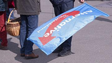 Сторонники ультраправой партии «Альтернатива для Германии» в Гере