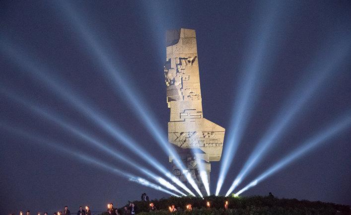 Церемония в рамках празднования 80-летия со дня начала Второй мировой войны в Гданьске