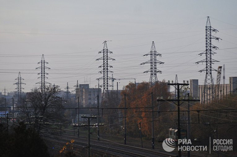 Линии электропередачи во Львовской области.