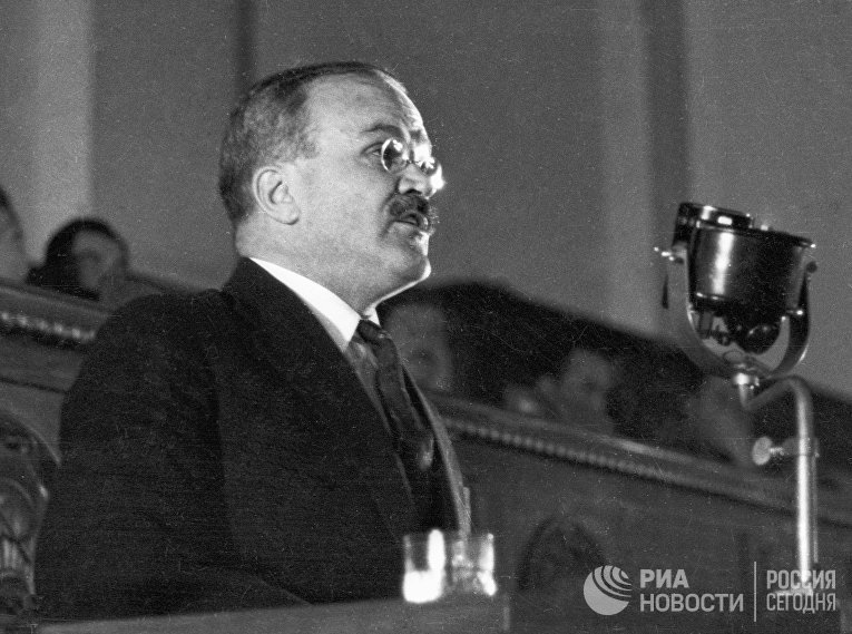 Председатель Совнаркома СССР Вячеслав Михайлович Молотов