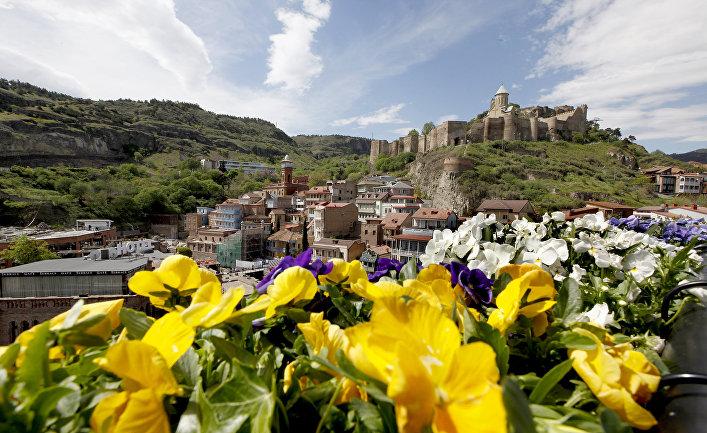 Вид на центр Тбилиси