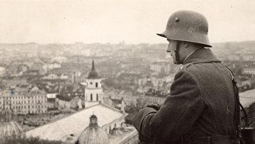 Литовский солдат в Вильнюсе, 1939 год