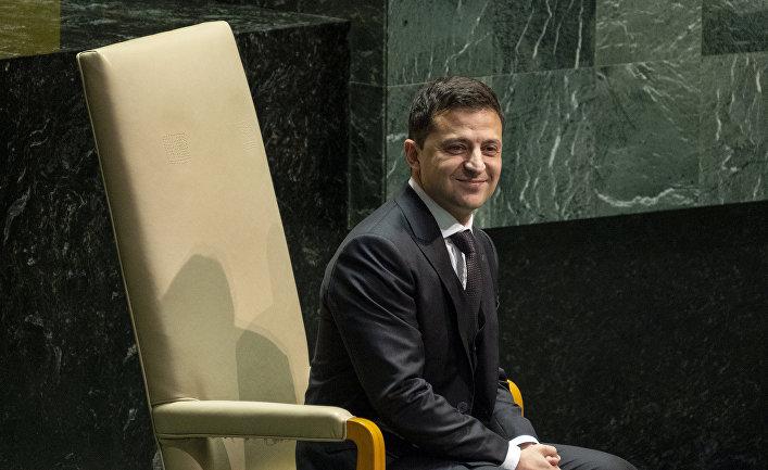 Президент Украины Владимир Зеленский на 74-й сессии Генеральной Ассамблеи ООН