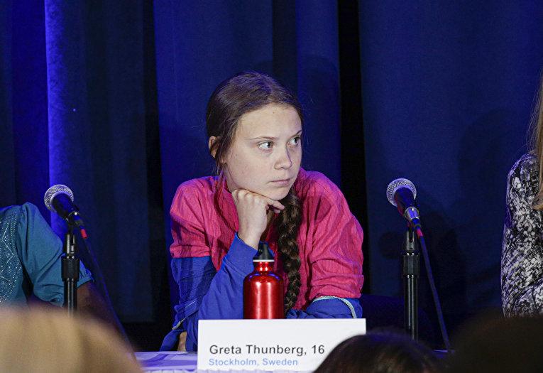 Активистка Грета Тунберг