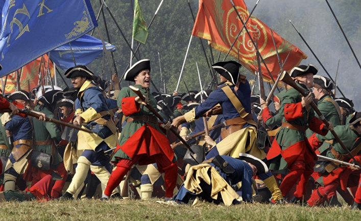 Реконструкция Полтавской битвы