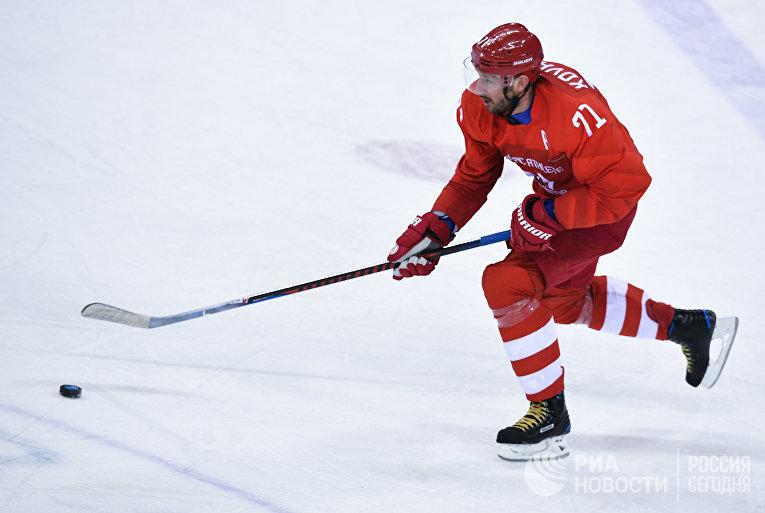 Илья Ковальчук (Россия) в матче Россия - США