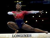 Выступление американской гимнастки Симоны Байлз
