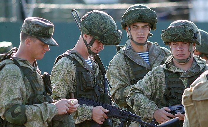 Военнослужащие РФ на открытии совместных российско-пакистанских военных учений