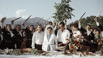 Свадьба в грузинском селе Ахалсопели.