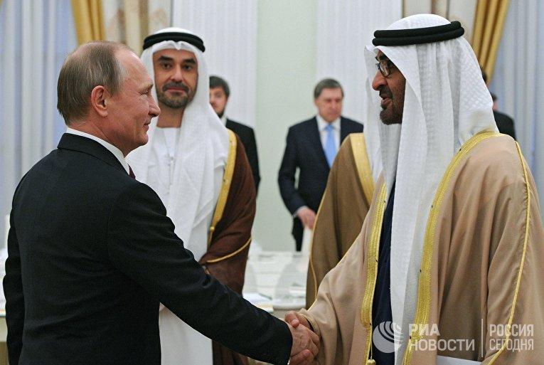 Встреча президента РФ В. Путина с наследным принцем Абу-Даби Мухаммедом Аль Нахайяном