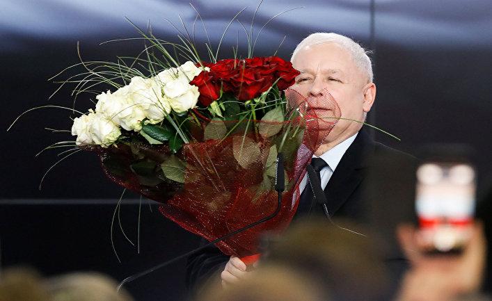 """Лидер правящей партии Польши """"Право и справедливость"""" Ярослав Качиньский"""