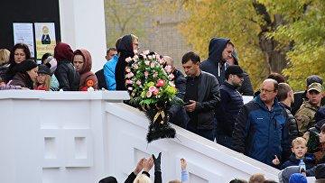Прощание с убитой в Саратове Лизой Киселевой