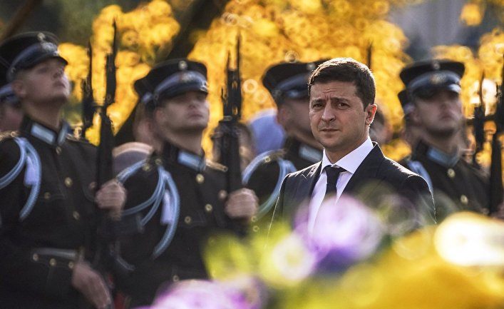 Визит президента Украины В. Зеленского в Ригу