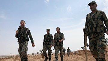 Линия обороны на северо-западе района Манбидж в Сирии