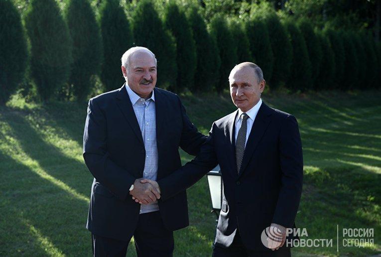 Рабочий визит президента РФ В. Путина в Республику Беларусь