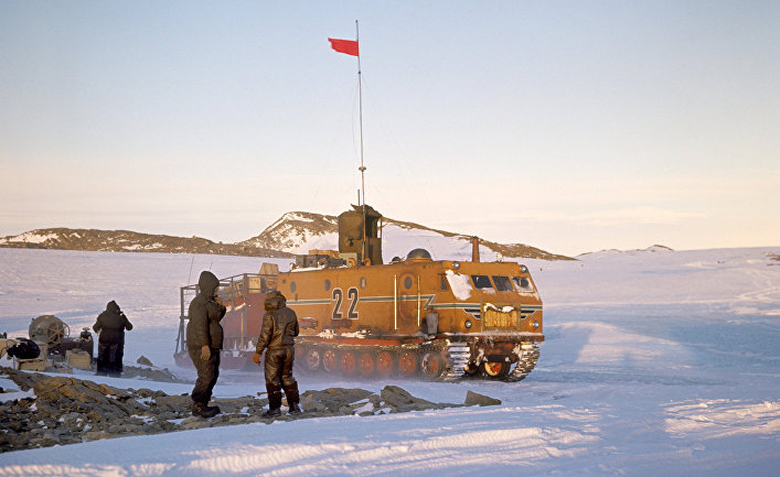 Станция Новолазаревская в Антарктиде