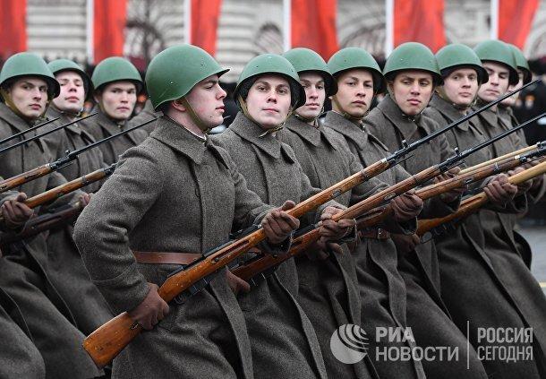 Марш, приуроченный к 78-й годовщине парада 1941 года