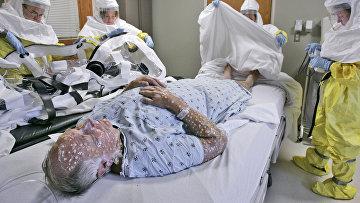 Отработка действий в случае заражения человека натуральной оспой, Небраска, США