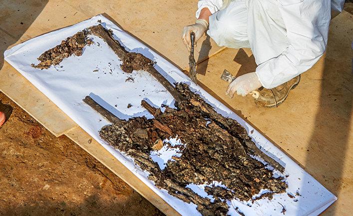 Предполагаемые останки французского генерала Гюдена, найденные в Смоленске