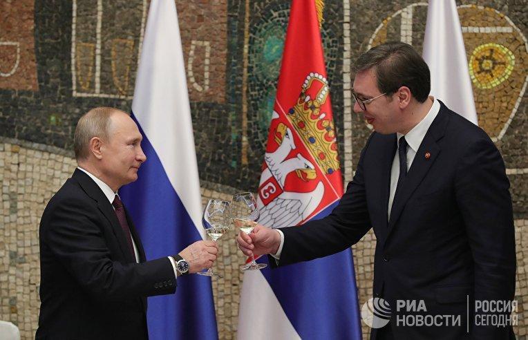 Официальный визит президента РФ В. Путина в Сербию