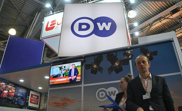 Стенд телеканала DW (Deutsche Welle) на 21-й международной выставке CSTB Telecom&Media 2019