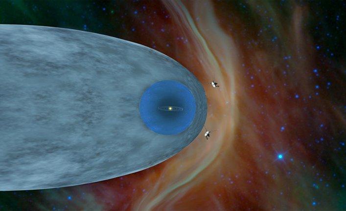"""Аппараты """"Вояджер-1"""" и """"Вояджер-2"""" за пределами гелиосферы"""