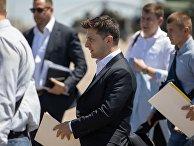 Рабочая поездка президента Украины Владимира Зеленского в Донецкую область