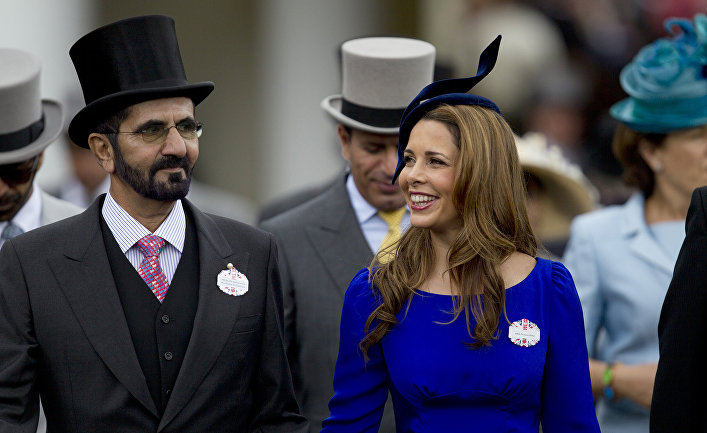 Премьер-министр ОАЭ Мухаммед бен Рашид аль-Мактум с женой принцессой Хайей