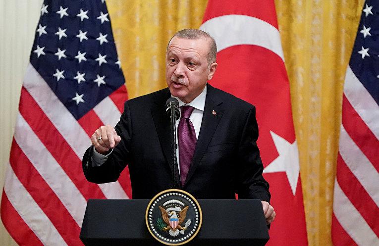 Президент Турции Тайип Эрдоган в Вашингтоне