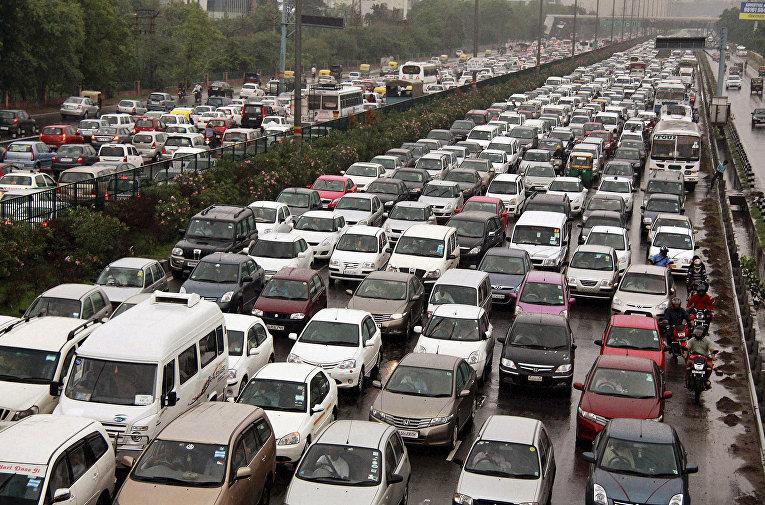 Пробка в Нью-Дейли, Индия
