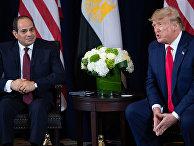 Президент США Дональд Трамп и президент Египта Абдул-Фаттах Халил Ас-Сиси