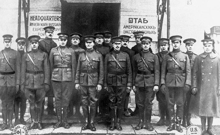 Американские интервенты на севере России, 1918 год