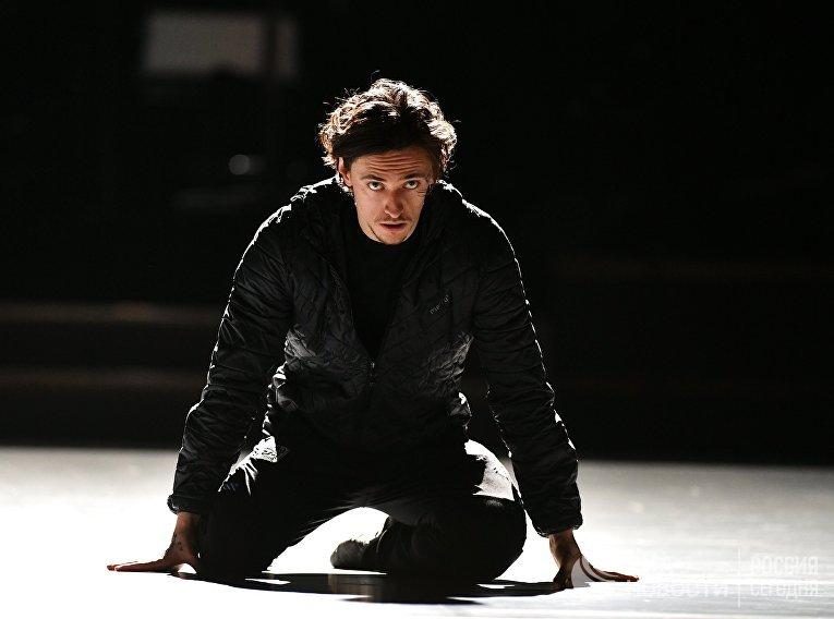 Артист балета Сергей Полунин во время репетиции в Большом театре в Москве